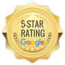 5 Star rating google Badge