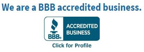 We are a BBB accredited business Profile